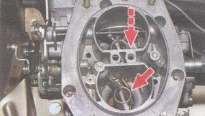 воздушная заслонка первичной камеры карбюратора ваз 2108, ваз 2109, ваз 21099