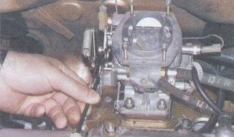 регулировка привода воздушной заслонки