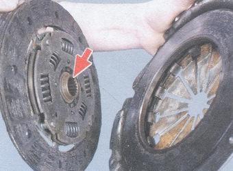 ведомый диск сцепления - кожух нажимного диска сцепления