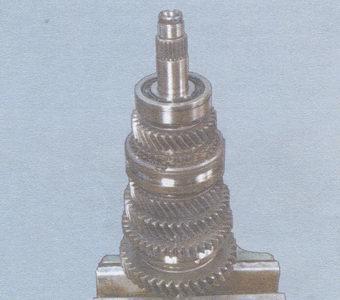 вторичный вал коробки передач ваз 2108, -2109, -21099