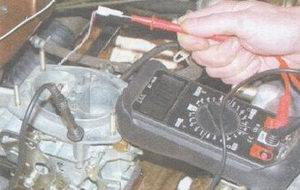проверка подачи питания на электромагнитный клапан