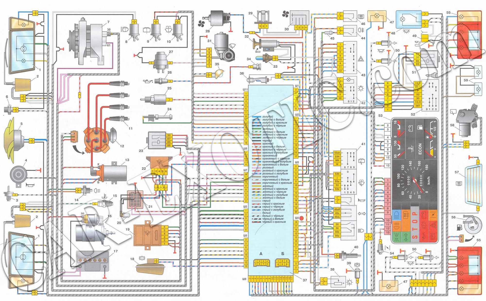 электрическая схема запуска стартера пассат б3