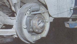 тормозная система заднего колеса автомобиля Волга ГАЗ 31105