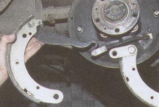 задние тормозные колодки автомобиля Волга ГАЗ 31105