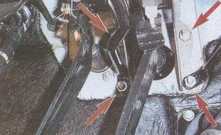 гайки крепления кронштейна к панели кузова автомобиля Волга ГАЗ 31105
