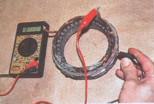проверка отсутствия замыкания обмоток статора на корпус