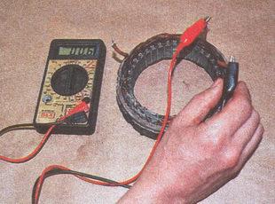 проверка отсутствие обрыва обмоток статора на корпус
