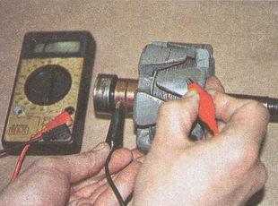 проверка отсутствия замыкания обмоток ротора на корпус