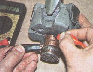 проверка сопротивления обмотки ротора