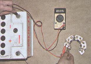проверка диодного моста генератора ГАЗ 31105
