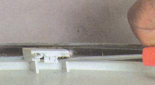паз фиксатора облицовки блок фары