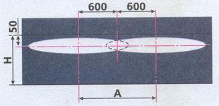 разметка экрана для регулировки противотуманных фар ГАЗ 31105