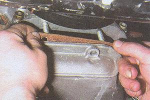прокладка поддона картера блока цилиндров двигателя ЗМЗ 406