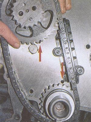Двигатель 406 схема цепи грм.