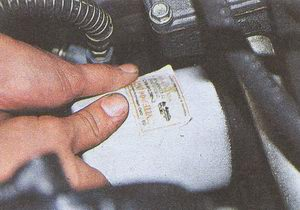 установка масляного фильтра