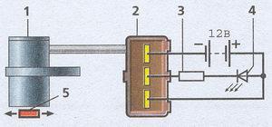 электрическая схема проверки исправности датчика положения распредвала