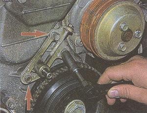 крепления натяжителя двигателя ЗМЗ 406