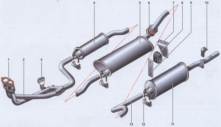система выпуска отработавших газов Волга ГАЗ 31105