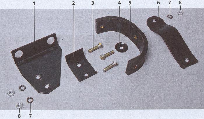 элементы подвески глушителя Волга ГАЗ 31105
