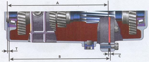 определение осевого зазора промежуточного вала на автомобиле Волга ГАЗ 31105