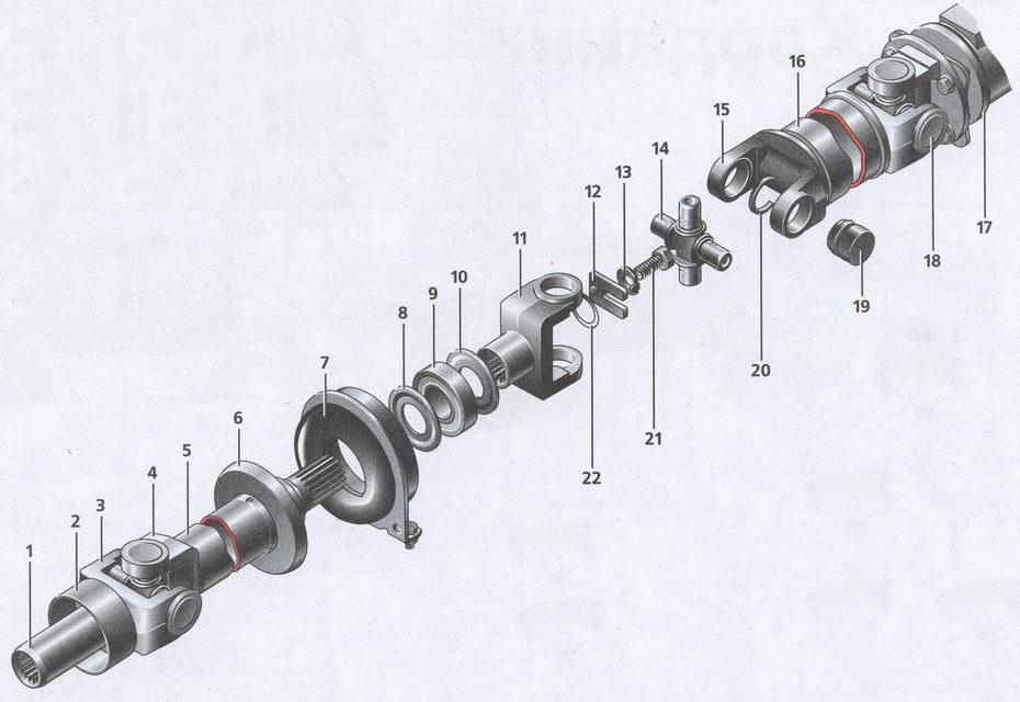 детали карданной передачи автомобиля Волга ГАЗ 31105