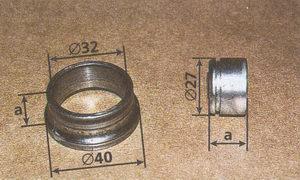 детали для выпрессовки подшипника из карданного шарнира ГАЗ 31105