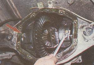 стопорные пластины регулировочных гаек подшипников дифференциала заднего моста Волга ГАЗ 31105
