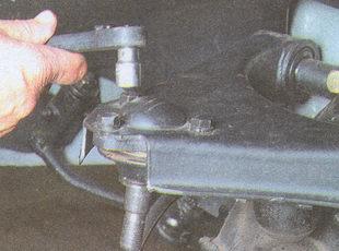 крепление корпуса шаровой опоры к рычагу ГАЗ 31105