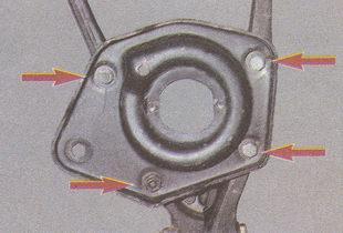 крепление нижней опорной чашки пружины к рычагу ГАЗ 31105