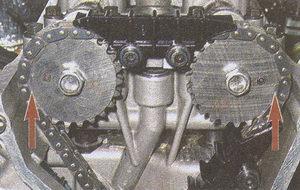 метки на звездочках распредевалов ГАЗ 31105