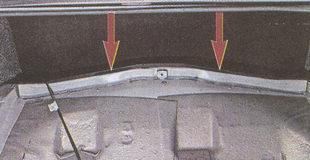 места крепления штоков амортизаторов к кузову автомобиля Волга ГАЗ 31105
