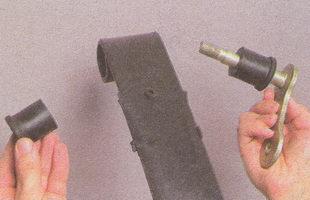 серьга и резиновые втулки рессоры