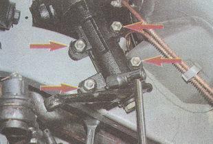 места крепления рулевого управления к лонжерону автомобиля ГАЗ 31105