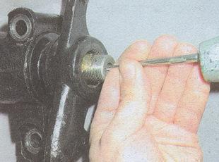 помечаем положение сошки рулевого управления ГАЗ 31105