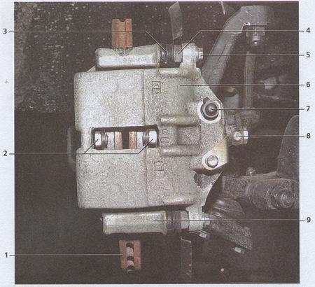 Тормозной механизм переднего колеса автомобиля Волга ГАЗ 31105