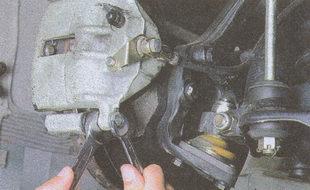 крепления нижнего направляющего пальца тормозных колодок