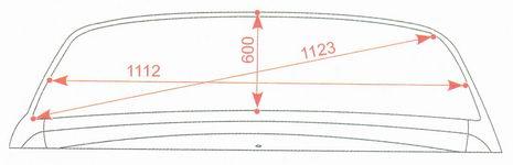Контрольные размеры проема заднего стекла Лада Калина ВАЗ 1118