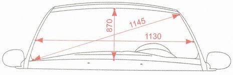 Контрольные размеры проема ветрового стекла Лада Калина ВАЗ 1118