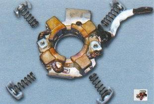 прижимные пружины щеток стартера Лада Калина ВАЗ 1118