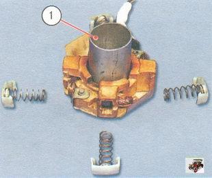 установка щеткодержателя стартера Лада Калина ВАЗ 1118