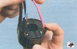 пластмассовые защелки контактной группы крышки замка зажигания Лада Калина ВАЗ 1118