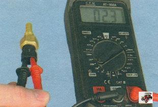 проверка ДТОЖ (датчик температуры охлаждающей жидкости) Лада Калина ВАЗ 1118