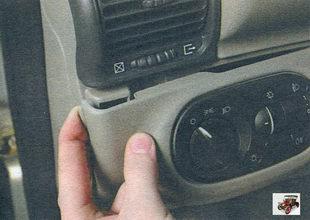 замена блока управления наружным освещением и освещением приборов Лада Калина ВАЗ 1118