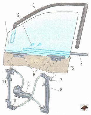 Электростеклоподъемник передней двери Лада Калина ВАЗ 1118