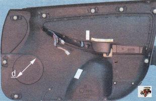 Установка динамиков в передних дверях Лада Калина ВАЗ 1118
