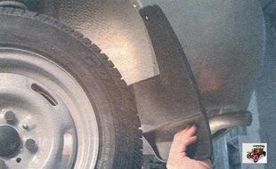 брызговик заднего колеса Лада Калина ВАЗ 1118