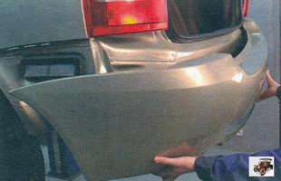 задний бампер Лада Калина ВАЗ 1118