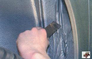 мастики нанесенная на сопряжения переднего крыла с кузовом