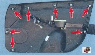 обшивка передней двери Лада Калина ВАЗ 1118