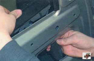 наружный уплотнитель стекла двери Лада Калина ВАЗ 1118